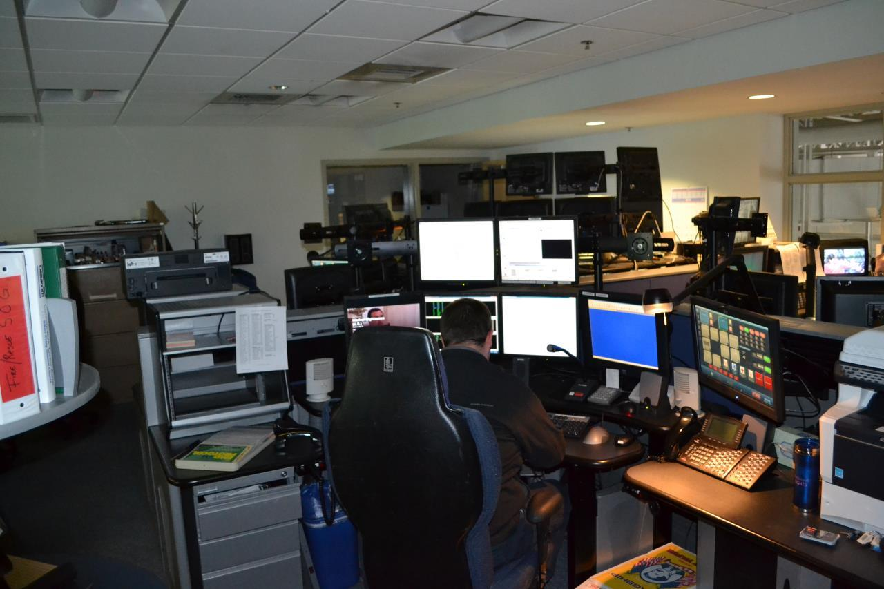 A dispatcher working at his station