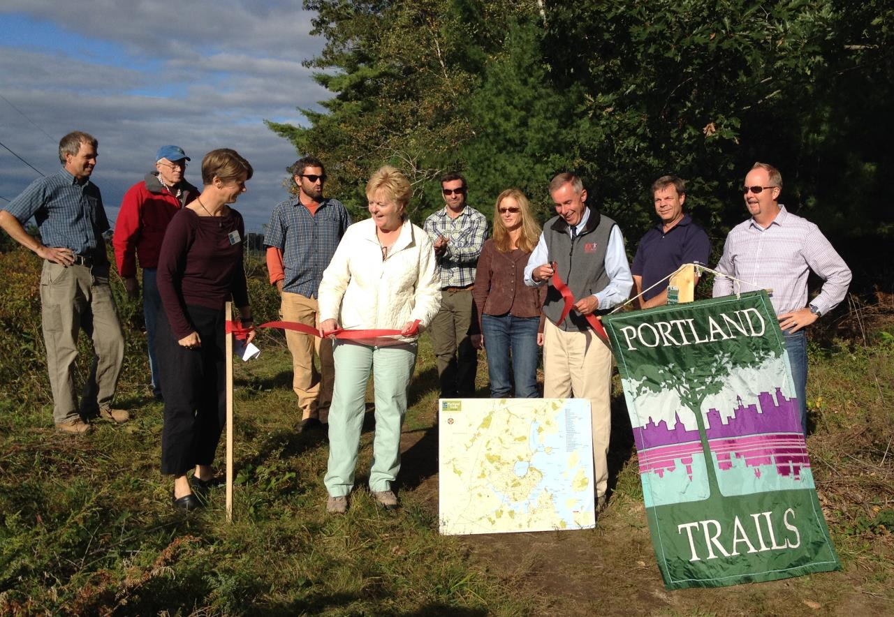 Portland Trail System Ribbon Cutting